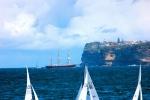 Tall ship crossing through.